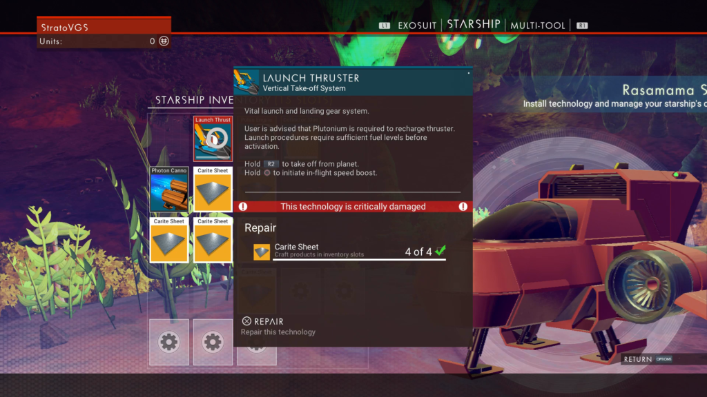 Launch Thruster Repair No Mans Sky